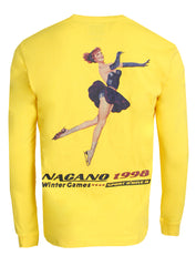 Men's Nagano Long Sleeve Crewneck Knit-Yellow