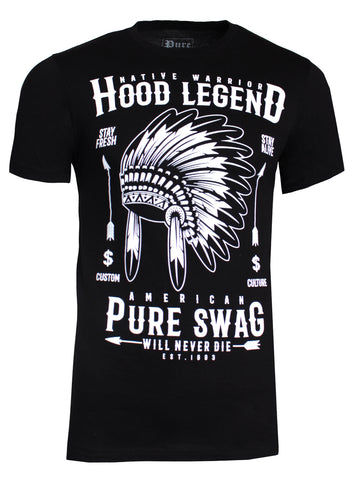 Native Warrior Pure Tee|Black