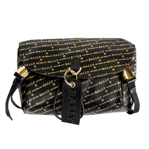 Bally Cage Sling Bag in Black and Gold