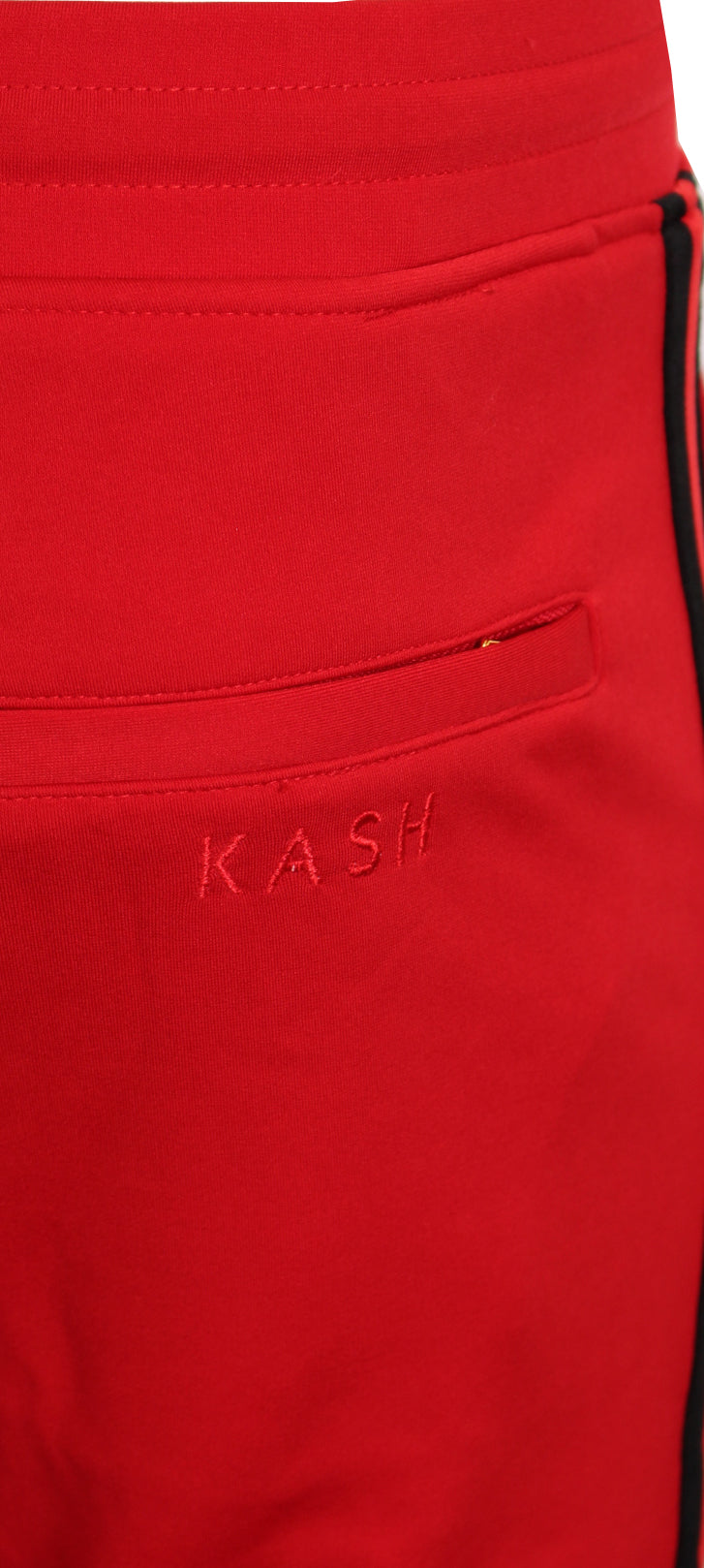 KASH Red and Black Track Pants