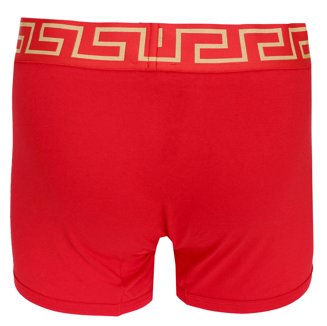Versace Underwear Long Trunk W/Greca Border |Red and Gold