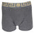 Versace Underwear Long Trunk W/Greca Border |Gray and Gold