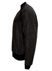 Men's Long Sleeve Diamond Jacket-Black
