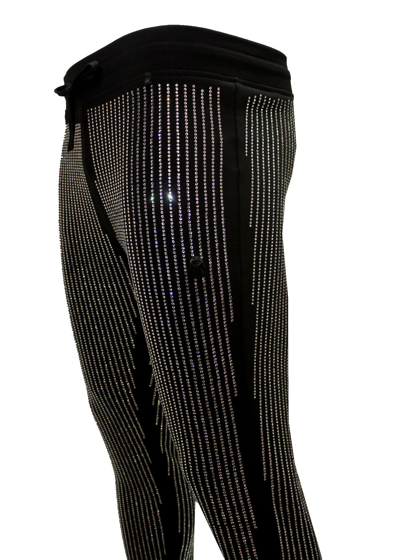 Men's Diamond Pants-Black/Clear