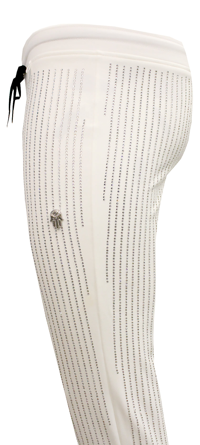 Men's All over Diamonds Pants-White