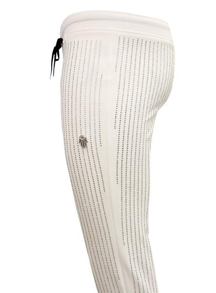 Men's All over Diamonds Pants-White/Clear