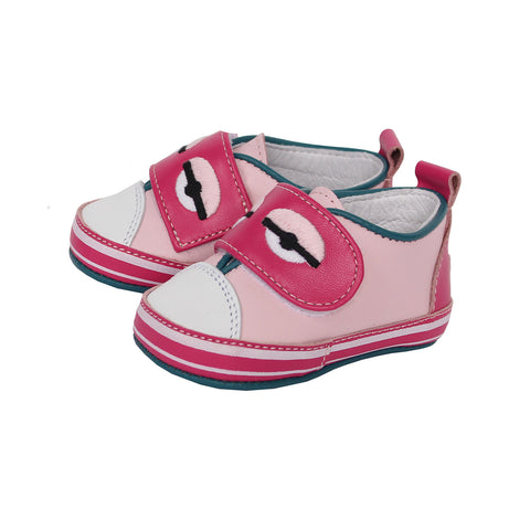 Baby Girl Monster Eye Shoes(PINK)