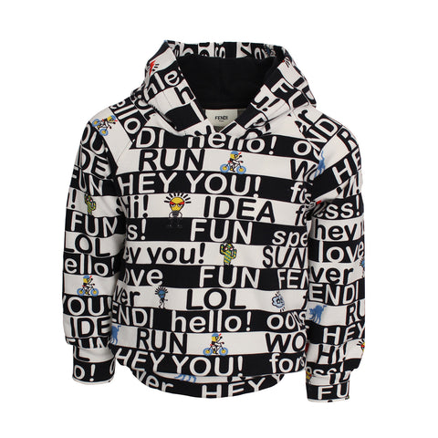 LS Words Graphic Sweat(BLACK/WHITE)