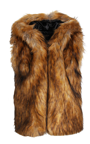 Kash Fur Vest (BROWN)