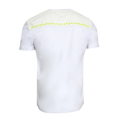 Lime Green Studed (WHITE)
