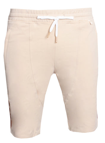 Men's Boot Beige Track Shorts-Cream
