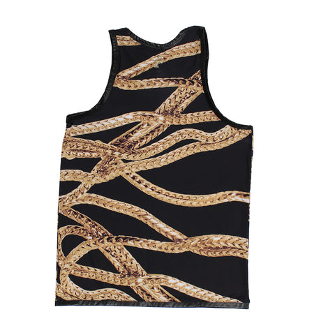 Forte Gold Chain Tank Top (BLACK/GOLD)