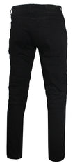 Men's Straight Leg Fit Biker Denim-Black