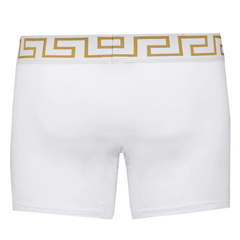 Versace Underwear Long Trunk W/Greca Border