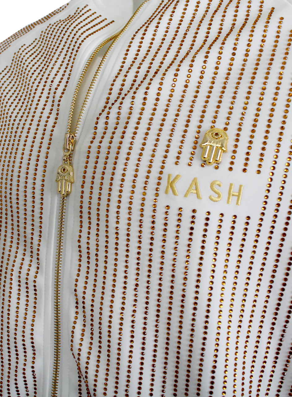 KASH | All Over Crystal Track Jacket