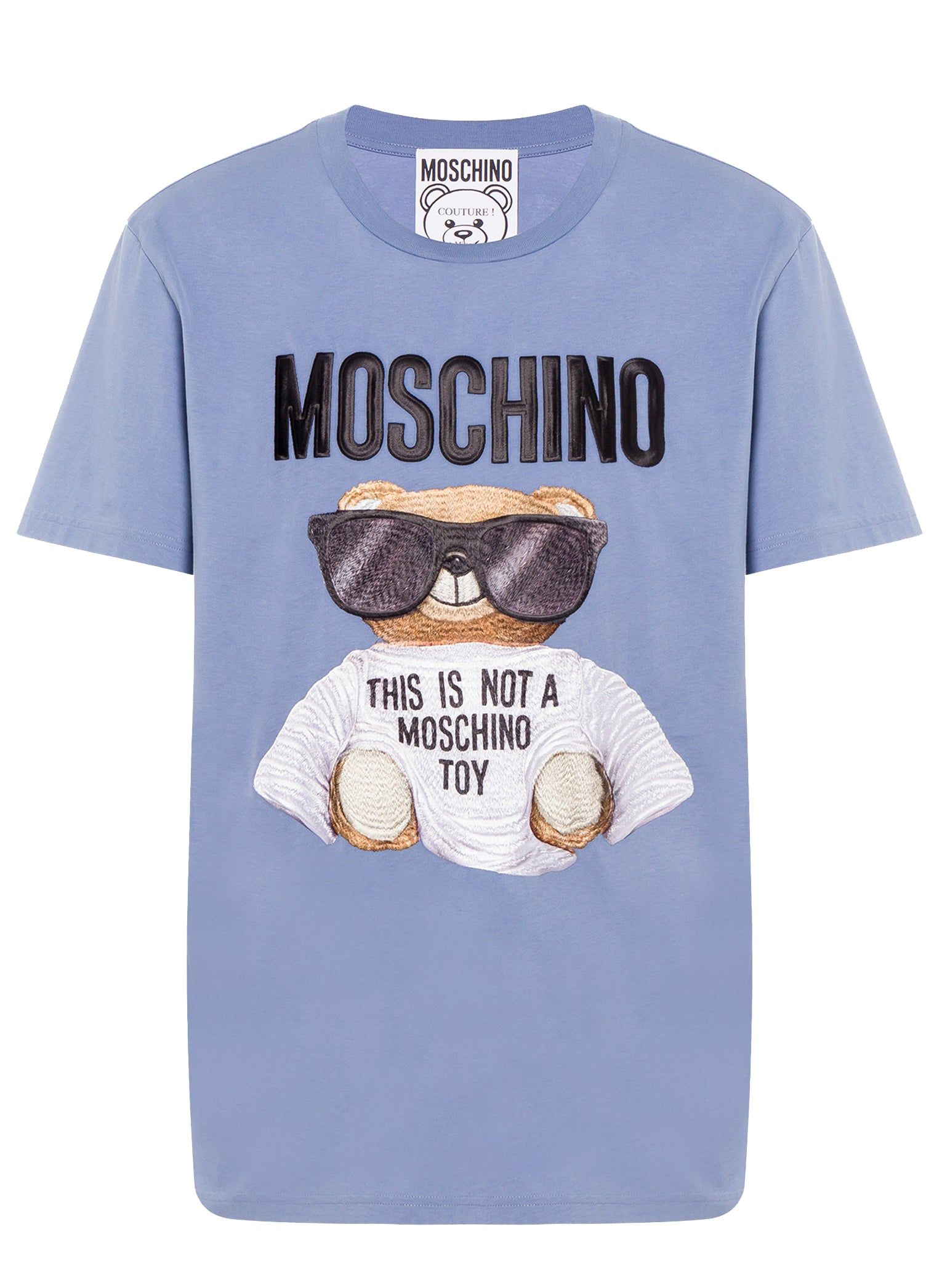 Moschino Bear Embroidered Short Sleeve Tee