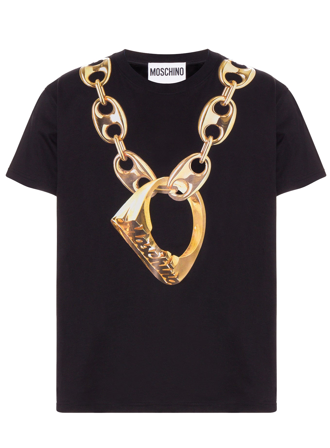 Moschino Chain With Ring Short Sleeve Tee