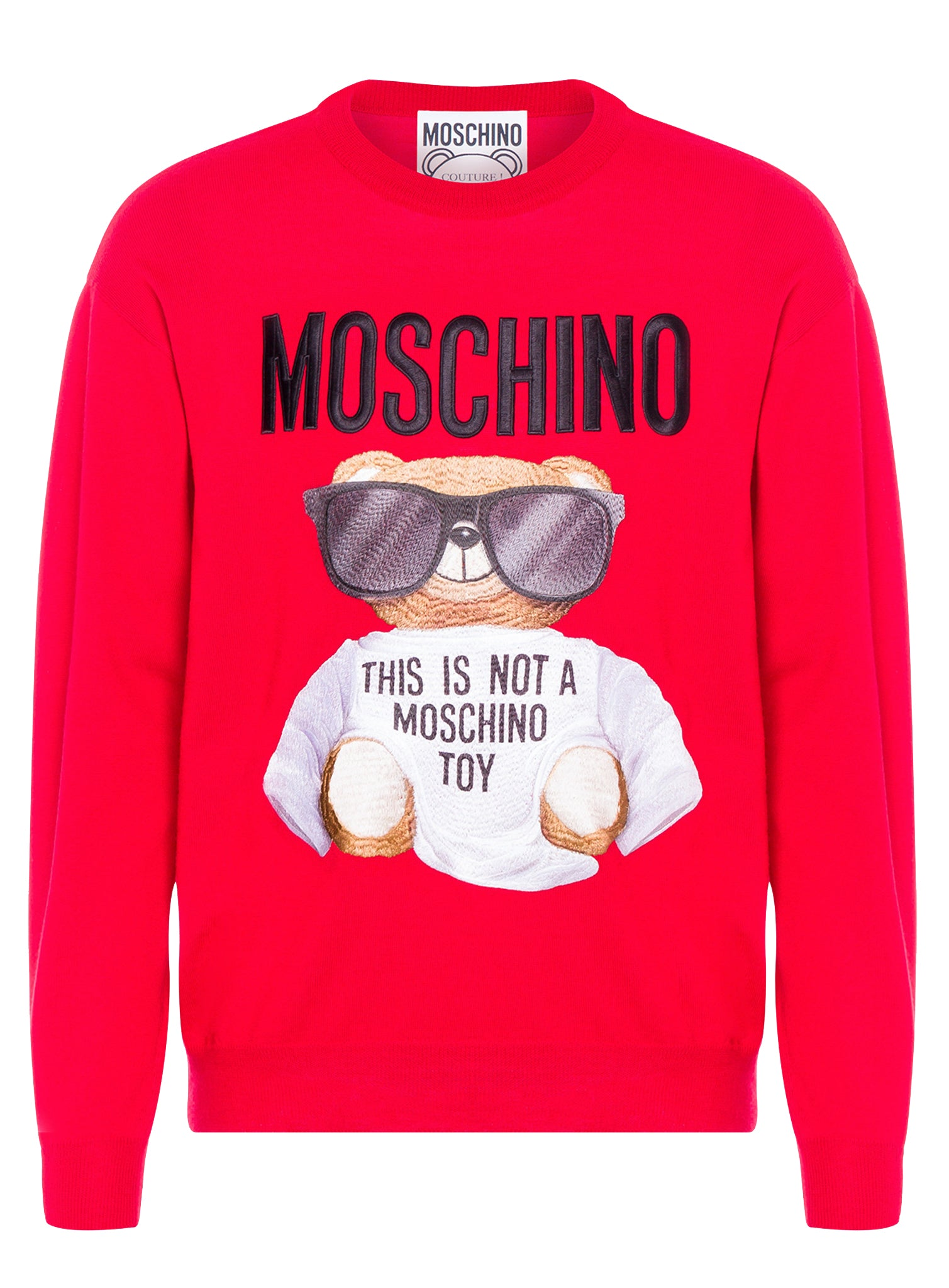 Moschino Bear Embroidered Sweater