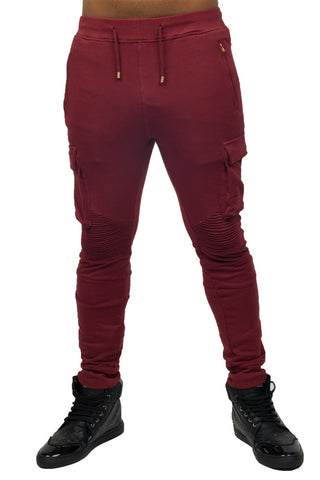 Jogging Biker Burgundy Bottoms