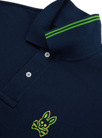 Men's Neon Camo Embroidery Polo
