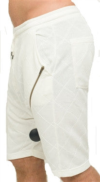 Black Kaviar Aribo Shorts (Off White)