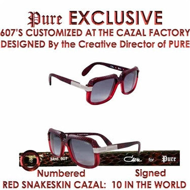 Pure Custom Cazal 607 Leather Snakeskin Limited Edition