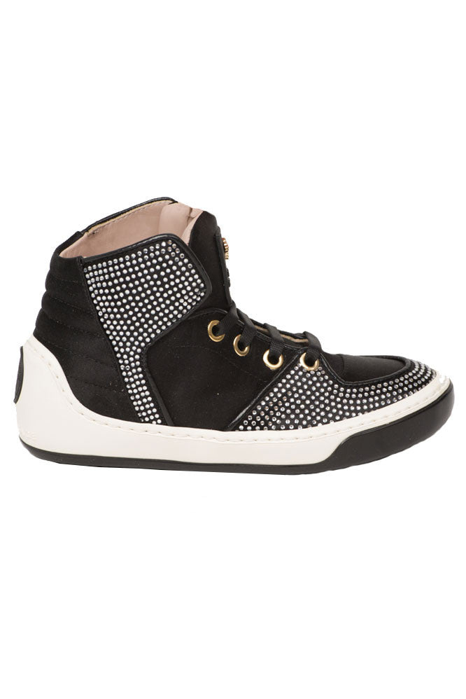 Kids-Girls High Top Sneakers-Black