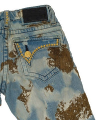 Robin's Jean Boys Aurum Swarovski Gold Rim Moon Denim