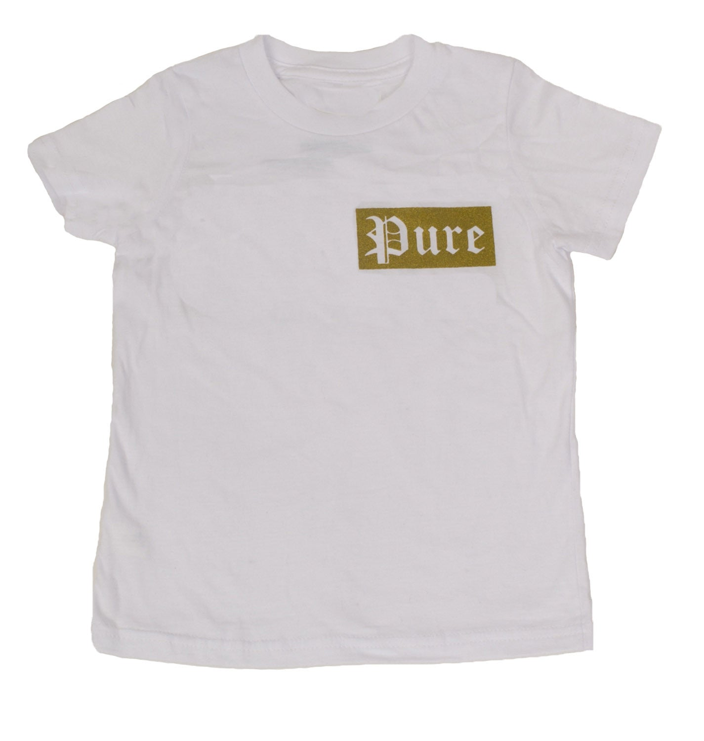 Kids Gold Logo White Tee