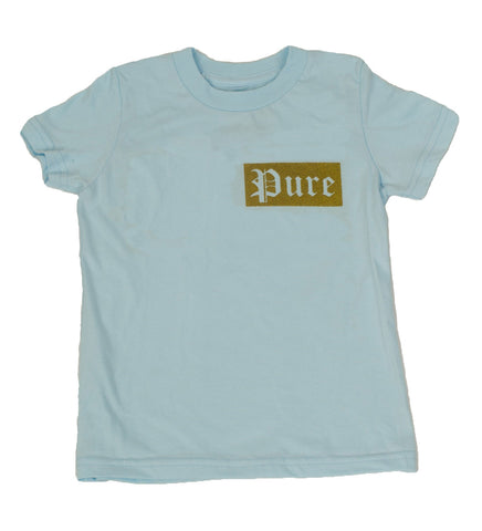 Kids Gold Logo Blue Tee