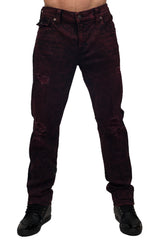 Men Geno Flap Red Roulette Jeans