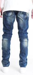 Men's Dino Biker Denim-Dark Blue