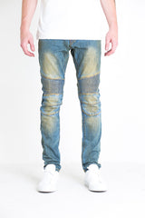 Volante Biker Denim (Medium Blue)