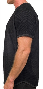 Unknown Double Knitted Mesh Tee (Black)