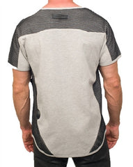 Unknown Double Knitted Mesh Tee (Grey)