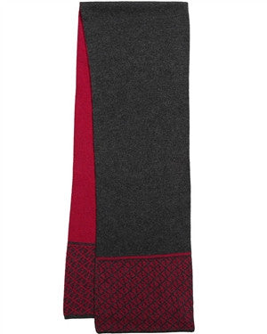 Fendi Boys FF Logo Red & Grey Scarf