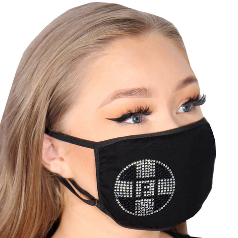 FASK Logo Cotton 2.0 Stoned Mask with Interchangeable Filter and Adjustable Size Strap