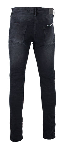 Men's Black Wash Reverse Inseam Denim