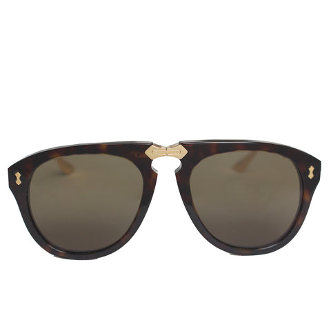 Aviator Foldable acetate Gucci Sunglasses|Tortoise