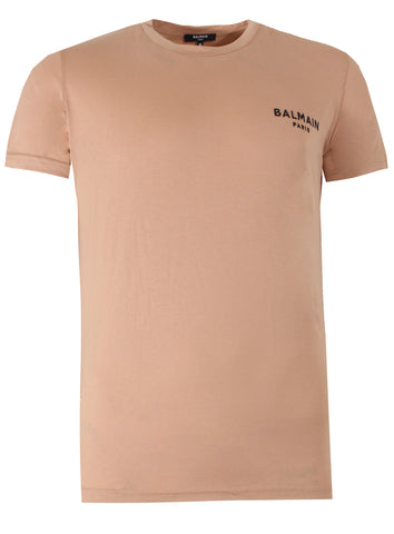 Men's Balmain Paris Jersey Logo Tee Shirt