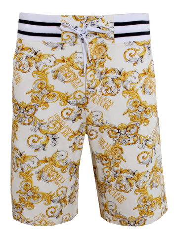 Men's Versace Jeans Couture Bermuda Shorts with Baroque Print