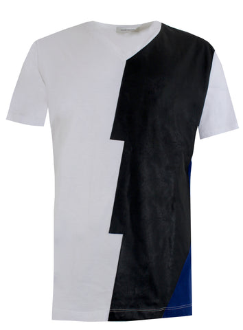 Men's Multi Color Contrast V-Neck Tee