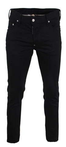 Men's Dsquared2 Black Bull Wash Skater Jeans
