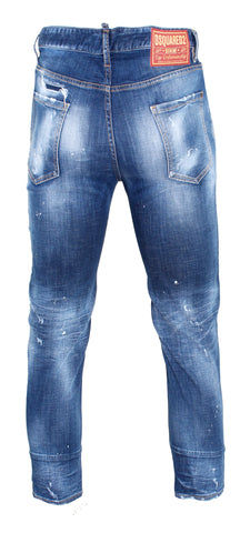Men's Dsquared2 Holy Dark Wash Brad Jeans