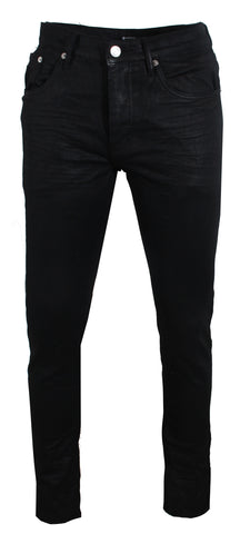 Men's Purple Black Tar Coated Denim