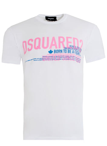 Men's Dsquared2 Born to be a Fighter Tee Shirt