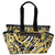 Large Baby Diaper Bag With Barocco Print-Black and Gold