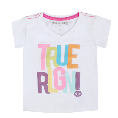 Kids True Religion Short Sleeve Glitter Tee