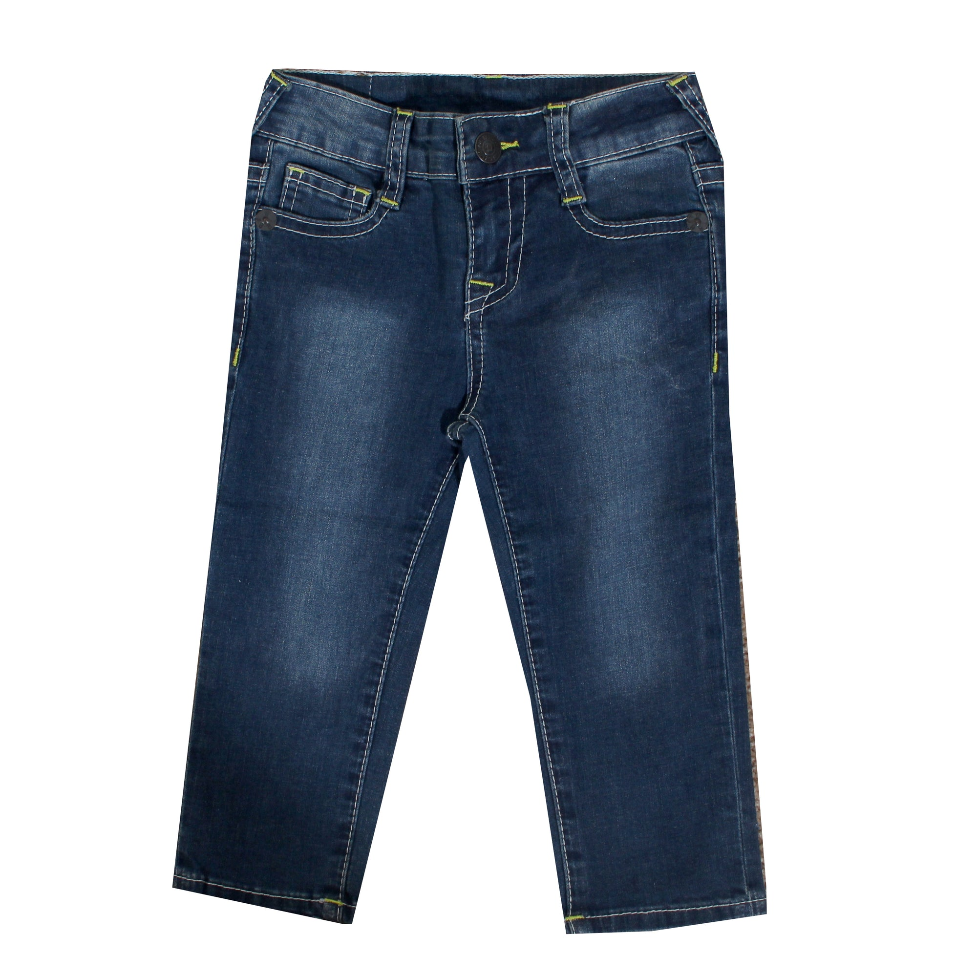 Kids True Religion Jeans with Green Stitching