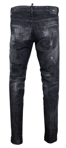 Men's Dsquared2 Black Wash Denim